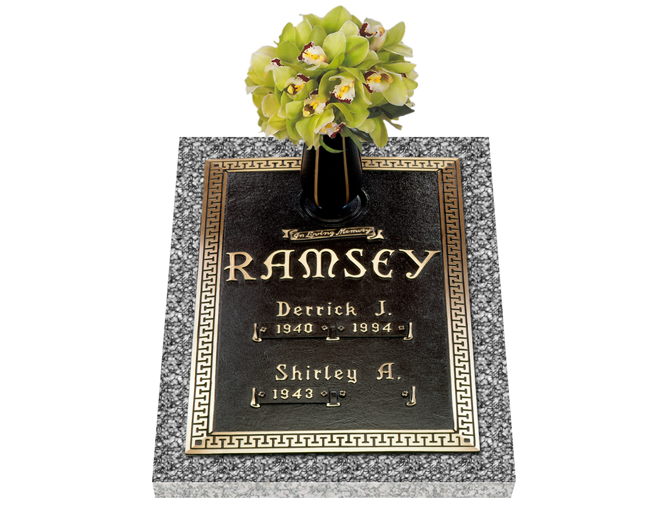 Companion bronze grave markers lovemarkers classic double interment with vase reviewsmspy